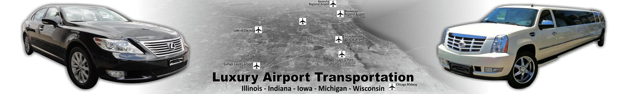 Illinois Luxury Airport Transportation by Affordable Limo Inc BW