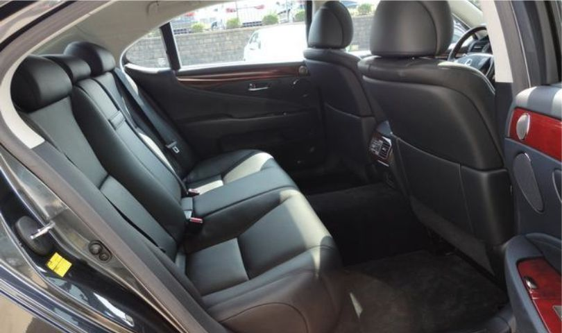 Lexus LS 460L 3 passenger luxury sedan limo interior rear seat by Affordable Limo Inc.