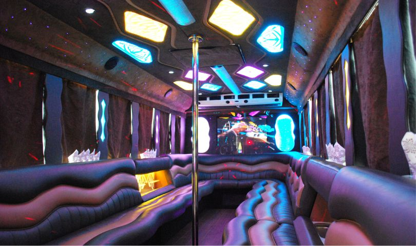Limo Bus 34 passanger interior view 1 by Affordable Limo Inc
