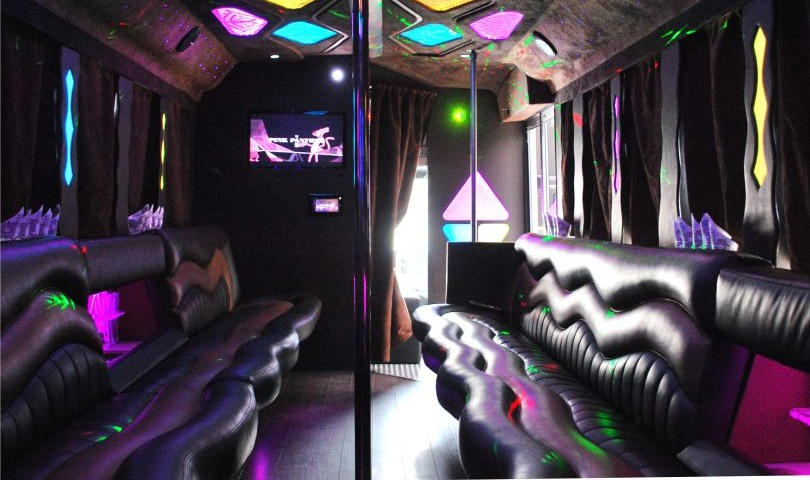 Limo Bus 34 passanger interior view 2 by Affordable Limo Inc