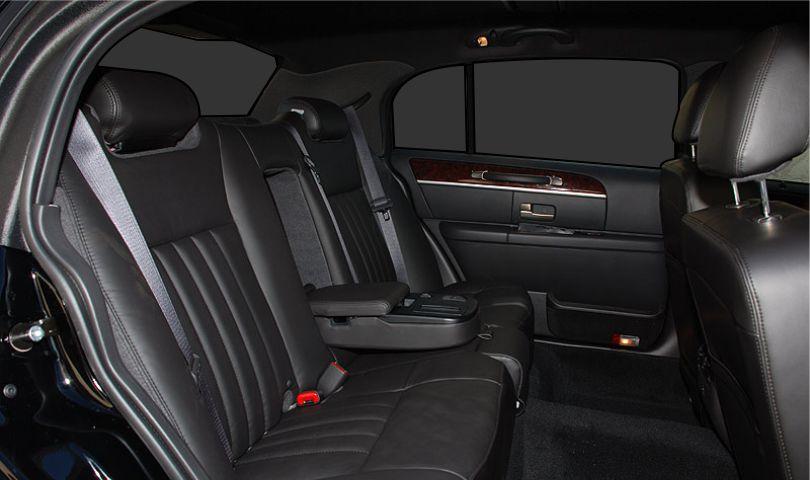 Lincoln Town Car 3 passenger sedan interior Affordable Limo Inc.