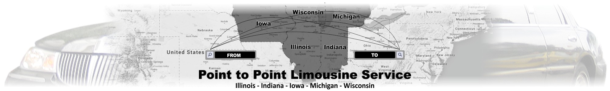 Point to Point Limousine Service in Illinois, Indiana, Iowa, Michigan, Wisconsin by Affordable Limo Inc
